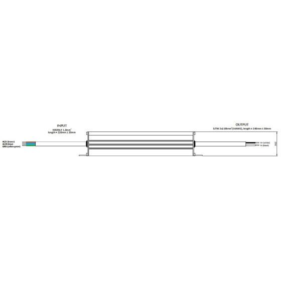 POS Netzteile 24V 7,7A Konstantspannung und Konstantstrom Metallgehäuse Serie MCHQ