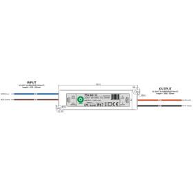 Wasserdichte IP67 POS Netzteile 12V 5A Serie PSV Kunststoffgehäuse