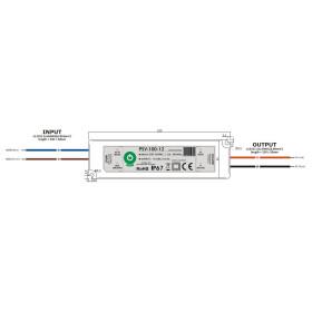 Wasserdichte IP67 POS Netzteile 12V 8,5A Serie PSV Kunststoffgehäuse