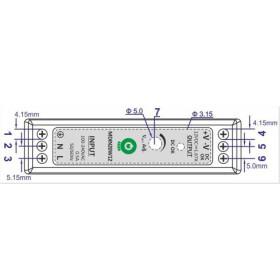 POS Hutschienen Netzteil 24V 1A Serie MDINPOS Kunststoffgehäuse