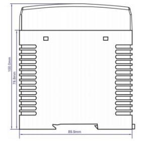 POS Hutschienen Netzteil 24V 2,5A Serie MDINPOS Kunststoffgehäuse
