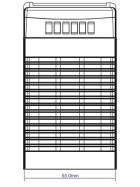 POS Hutschienen Netzteil 24V 4A Serie MDINPOS Kunststoffgehäuse
