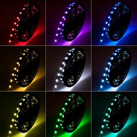 DEMODU® ECO 12V LED Streifen RGB mehrfarbig bunt 5m...