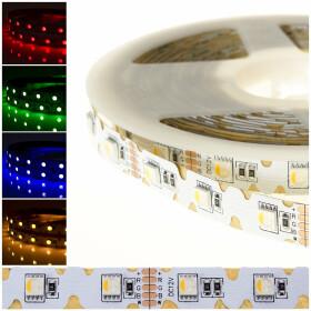 DEMODU® PREMIUM 12V LED Streifen RGBW 4 in 1 5m 48...