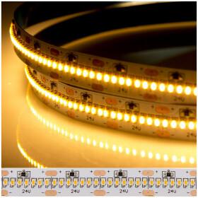 DEMODU® PREMIUM 24V LED Streifen Warmweiß 2700K 5m 420 SMD/m 2110 IP20 dimmbar