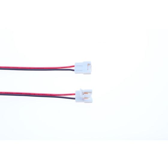 8mm LED Streifen Anschlußkabel 14cm Kabel einfarbig schwarz rot