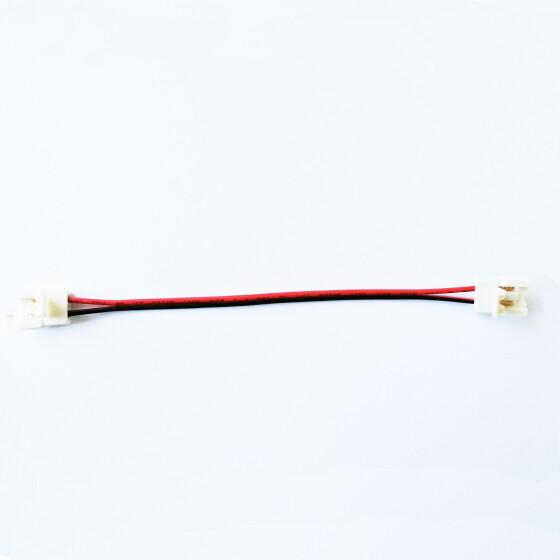 10mm LED Streifen Verbinder einfarbig rot schwarz max. 5A 15cm Kabel dazwischen