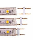 Verbinder 2-Pin für 230V 13mm SMD Streifen Leiste, Adapter, Stecker, Kupplung