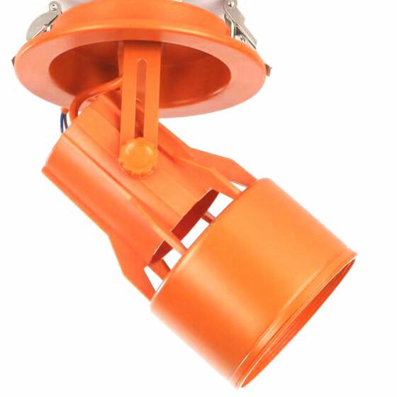 Einbaustrahler Gehäuse orange PAR30 E27 Fassung