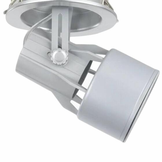 Einbaustrahler Gehäuse silber PAR30 E27 Fassung