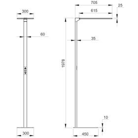 DEMODU® Stehleuchte Model SKY 4000K biodynamisch 80 Watt dimmbar mit Bewegungssensor