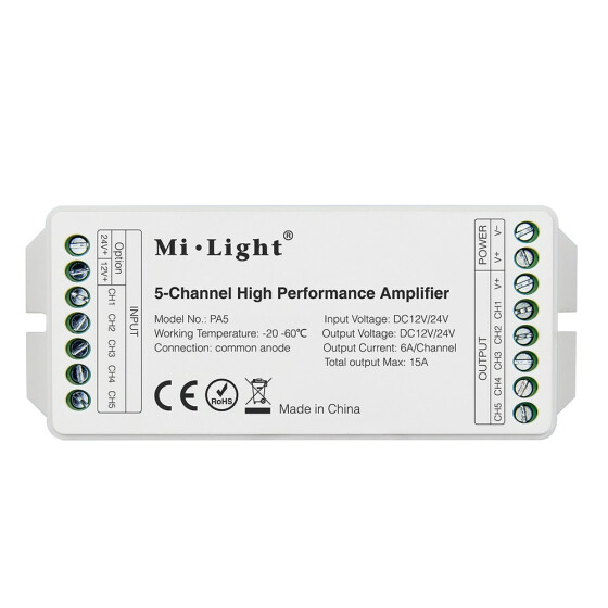 Mi-Light PA5 DC12V-24V 5 Kanal Verstärker