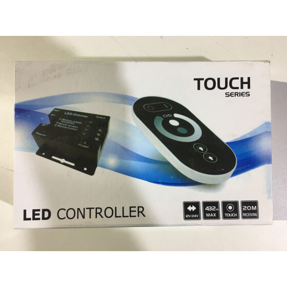 LED Touch Controller Dimmer 12-24V 432W max 20 receiving