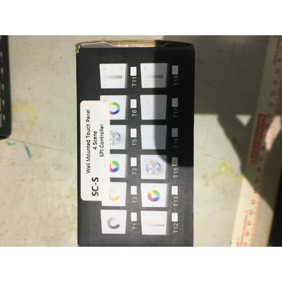 LED Controller DMX 512 Master RF Wireless 2,4G Wall Mounted Touch Panel & Rotary Series