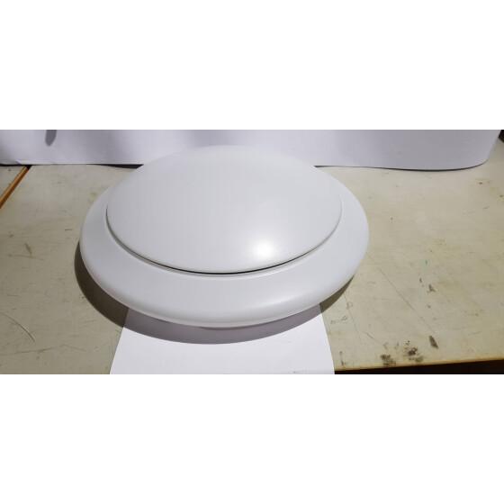 40cm weißes cover mit silberring für 24W Lampe
