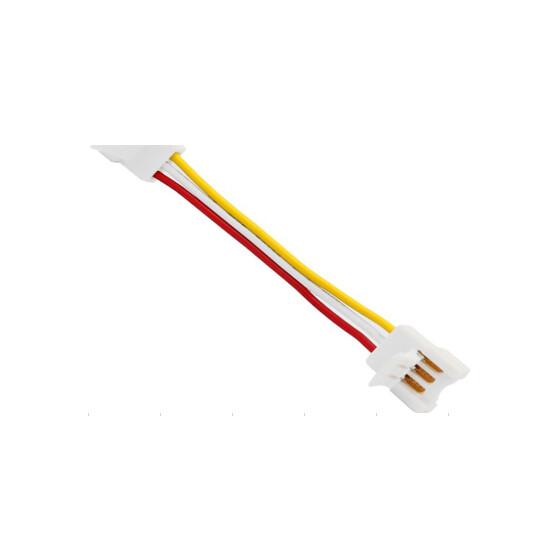 CCT-LED Streifen Verbinder rot/weiß/gelb 3PIN 10mm max. 5A 13cm Kabel dazwischen
