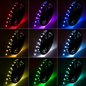 DEMODU® PREMIUM 12V 5mm LED Streifen RGB mehrfarbig...