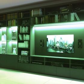 DEMODU® PREMIUM 12V 5mm LED Streifen RGB mehrfarbig bunt 5m 120 SMD/m 4040 IP20 dimmbar