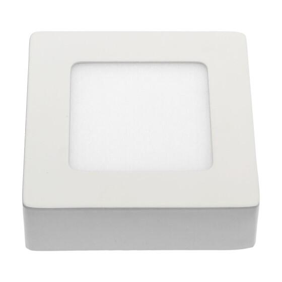 ALGINE  ECO LED SQUARE  230V 6W IP20  WW CEILING PANEL white frame SURFACE