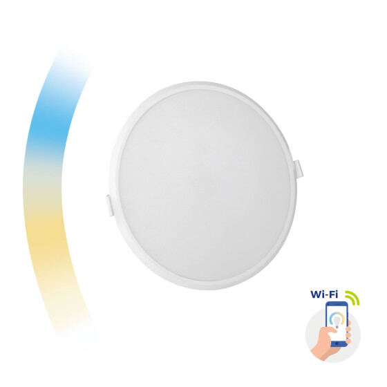ALGINE 22W CCT+DIM Wi-Fi Spectrum SMART round, recessed