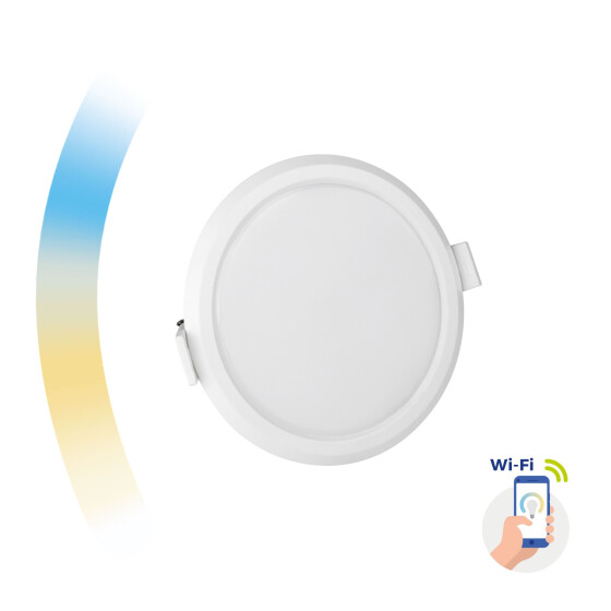 ALGINE 6W CCT+DIM Wi-Fi Spectrum SMART round, recessed
