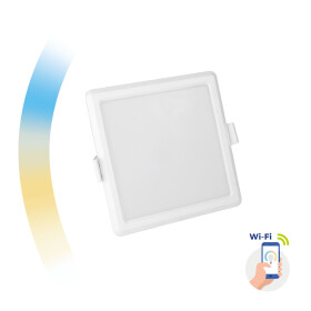 ALGINE 6W CCT+DIM Wi-Fi Spectrum SMART square, recessed