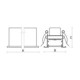 ALL-DAY 230V 36W IP20 120deg NW recessed single