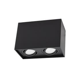 CHLOE DUO 2XGU10 IP20 rectangle black regulated eye