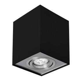 CHLOE GU10 IP20 square black/silver regulated eye