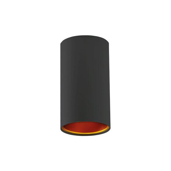 CHLOE GU10 IP20 tube black golden non-regulated eye