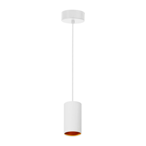 CHLOE GU10 x1 IP20 pendant lamp white golden round base