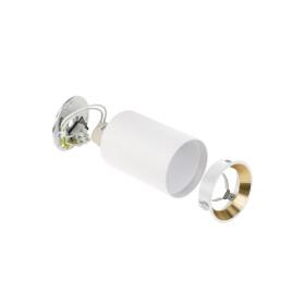 CHLOE MINI P20 round, body white, ring gold, edge white