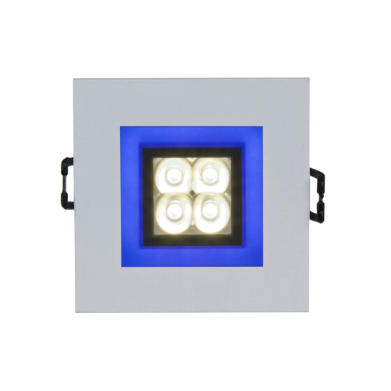 FIALE 4LED 4X1W 30deg 230V SQUARE CW LED SPOT BLUE FRAME