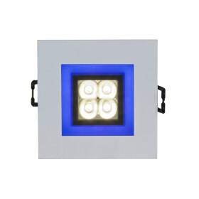 FIALE 4LED 4X1W 30deg 230V SQUARE CW LED SPOT BLUE FRAME