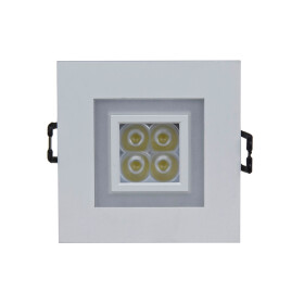 FIALE 4LED 4X1W 30deg 230V SQUARE WW LED SPOT WITH WW FRAME