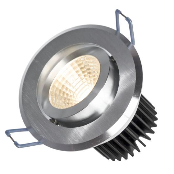 FIALE II 6W COB 38st 230V CW LED SPOT brushed aluminium ring