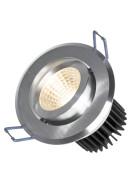 FIALE II 6W COB 38st 230V NW LED SPOT brushed aluminium ring