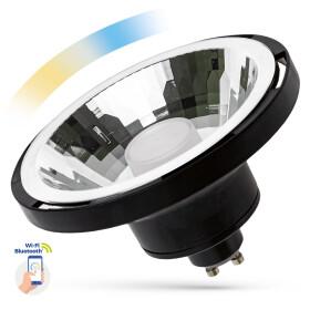 LED AR111 10W GU10 SMD 230V BLACK 30 degree CCT+DIMM...