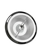 LED AR111 GU10 230V 15W COB 10 DEGREES WW BLACK  SPECTRUM