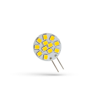 LED G4  12V 1,2W 12 LED WW 20MM SPECTRUM