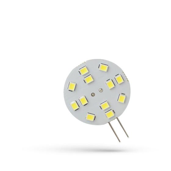 LED G4  12V 2W 12 LED CW 30MM SPECTRUM