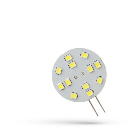 LED G4  12V 2W 12 LED CW 30MM SPECTRUM