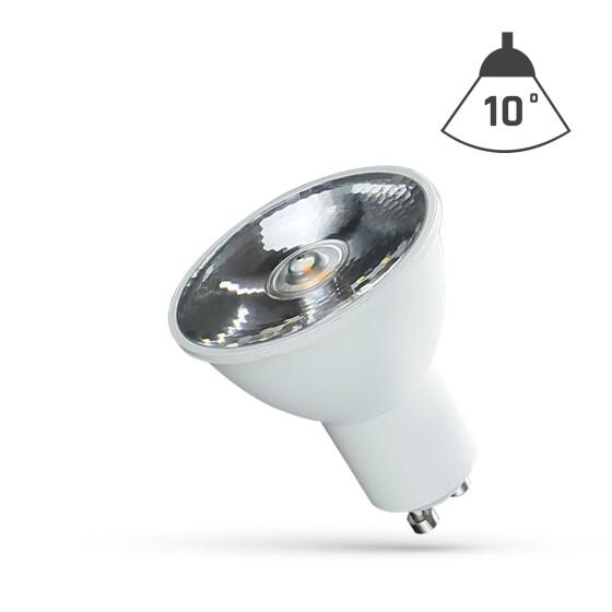 LED GU10 230V 6W SMD 10 DEGREES NW WITH LENS SPECTRUM