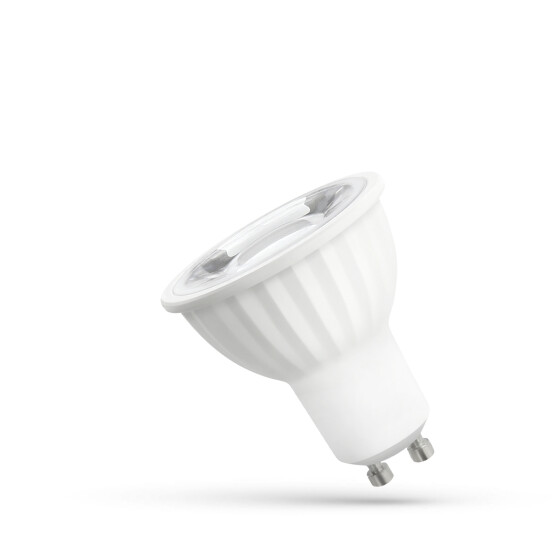 LED GU10 230V 6W SMD 45 DEGREES NW  WITH LENS SPECTRUM