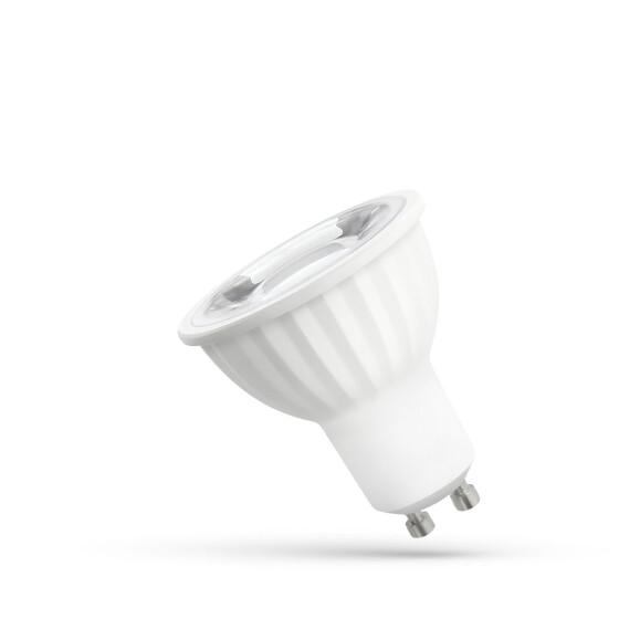 LED GU10 230V 6W SMD 45 DEGREES WW  WITH LENS SPECTRUM