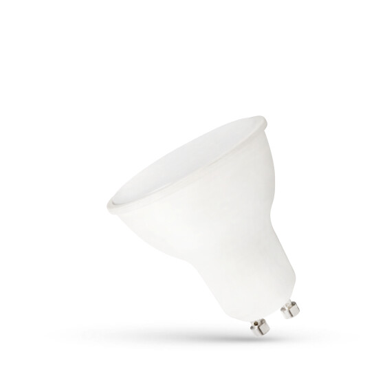 LED GU10 230V 6W SMD WW WITH MILKY COVER WHITE PLASTIC SPECTRUM