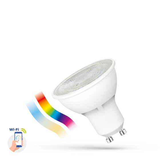 LED GU10 5W 230V RGBW + CCT + DIM Wi-Fi Spectrum SMART