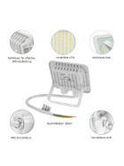 NOCTIS LUX 2 SMD 230V 10W IP65 NW white