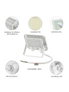 NOCTIS LUX 2 SMD 230V 20W IP65 CW white