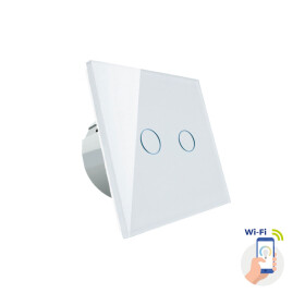 Two zones light switch white Spectrum SMART